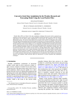 Convective-scale data assimilation for the weather research and forecasting model using the local particle filter