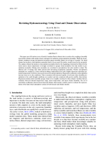 Revisiting hydrometeorology using cloud and climate observations