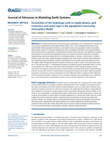 Sensitivities of the hydrologic cycle to model physics, grid resolution, and ocean type in the aquaplanet Community Atmosphere Model