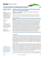 Satellite radiance data assimilation for binary tropical cyclone cases over the western North Pacific