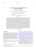Sensitivities of land cover-precipitation feedback to convective triggering