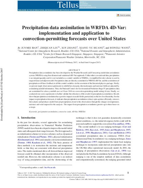 Precipitation data assimilation in WRFDA 4D-Var