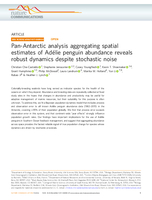 Pan-Antarctic analysis aggregating spatial estimates of Adélie penguin abundance reveals robust dynamics despite stochastic noise