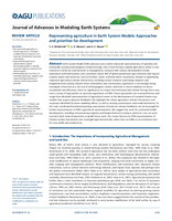 Representing agriculture in Earth System Models: Approaches and priorities for development