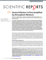Severe pollution in China amplified by atmospheric moisture