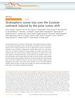 Stratospheric ozone loss over the Eurasian continent induced by the polar vortex shift