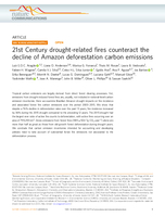 21st Century drought-related fires counteract the decline of Amazon deforestation carbon emissions
