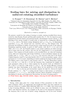 Scaling laws for mixing and dissipation in unforced rotating stratified turbulence