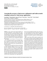 Assessing the accuracy of microwave radiometers and radio acoustic sounding systems for wind energy applications