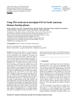 Using TES retrievals to investigate PAN in North American  biomass burning plumes