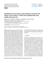 Quantifying errors in surface ozone predictions associated with clouds over the CONUS:  A WRF-Chem modeling study using satellite cloud retrievals