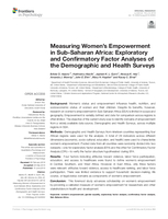 Measuring women's empowerment in Sub-Saharan Africa:  Exploratory and confirmatory factor analyses of the demographic and health surveys