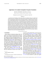 Applications of an updated atmospheric energetics formulation