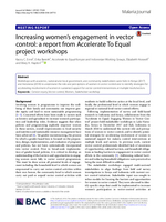 Increasing women's engagement in vector control:  A report from Accelerate To Equal project workshops