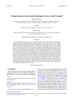 Robust responses of the Sahelian hydrological cycle to global warming