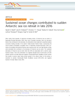 Sustained ocean changes contributed to sudden Antarctic sea ice retreat in late 2016