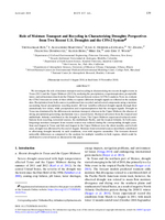 Role of moisture transport and recycling in characterizing droughts: Perspectives from two recent U.S. droughts and the CFSv2 system