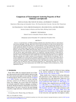 Comparisons of electromagnetic scattering properties of real hailstones and spheroids
