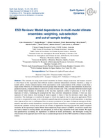 ESD Reviews: Model dependence in multi-model climate ensembles: weighting, sub-selection and out-of-sample testing