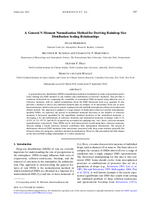 A general N-moment normalization method for deriving raindrop size distribution scaling relationships
