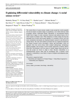 Explaining differential vulnerability to climate change: A social science review