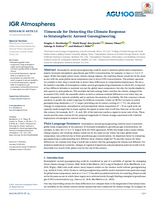 Timescale for detecting the climate response to stratospheric aerosol geoengineering