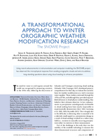 A transformational approach to winter orographic weather modification research: The SNOWIE Project