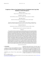 Comparison of observed and simulated drop size distributions from large-eddy simulations with bin microphysics