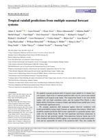 Tropical rainfall predictions from multiple seasonal forecast systems