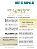 Data-driven scientific workflows: A summary of new technologies and datasets explored at the Unidata 2018 Workshop