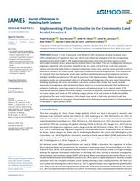 Implementing plant hydraulics in the Community Land Model, Version 5