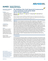 The modeling of the North Equatorial Countercurrent in the Community Earth System Model and its oceanic component