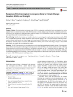 Response of the intertropical convergence zone to climate change: Location, width, and strength