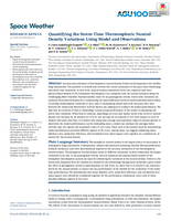 Quantifying the storm time thermospheric neutral density variations using model and observations