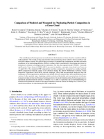 Comparison of Modeled and Measured Ice Nucleating Particle Composition in a Cirrus Cloud