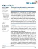 Trends and solar irradiance effects in the mesosphere