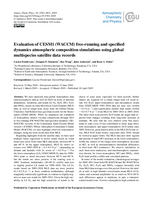 Evaluation of CESM1 (WACCM) free-running and specified dynamics atmospheric composition simulations using global multispecies satellite data records