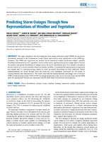Predicting storm outages through new representations of weather and vegetation