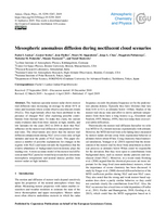 Mesospheric anomalous diffusion during noctilucent cloud scenarios