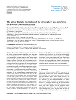 The global diabatic circulation of the stratosphere as a metric for the Brewer–Dobson circulation