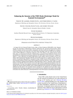 Enhancing the structure of the WRF-Hydro hydrologic model for semiarid environments