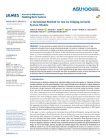 A variational method for sea ice ridging in Earth system models