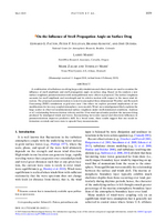 On the influence of swell propagation angle on surface drag