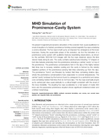 MHD simulation of prominence-cavity system