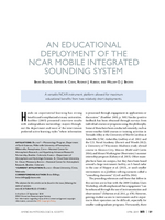An educational deployment of the NCAR Mobile Integrated Sounding System
