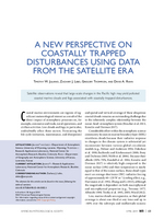 A new perspective on coastally trapped disturbances using data from the satellite era