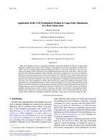 Application of the cell perturbation method to large-eddy simulations of a real urban area