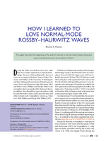 How I learned to love normal-mode Rossby–Haurwitz Waves