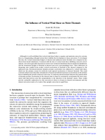 The influence of vertical wind shear on moist thermals