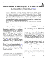 Constraints imposed by the square-root spin-down law on coronal wind parameters